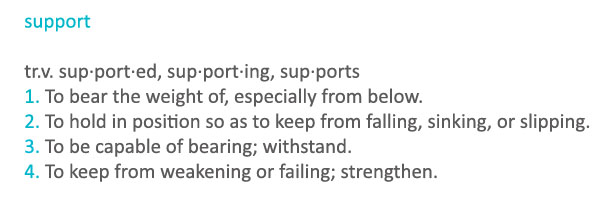 Support – Why is it so Important?
