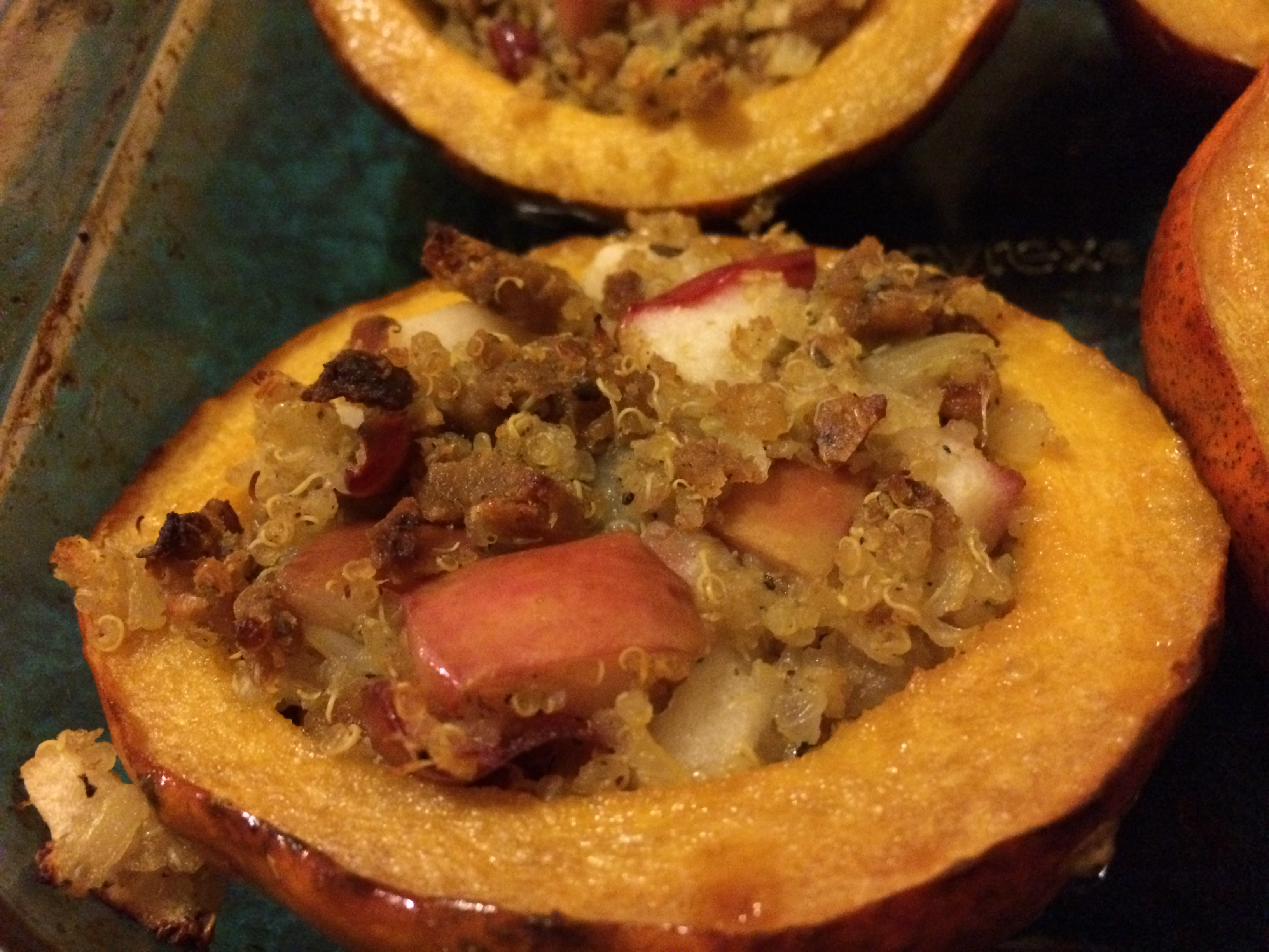 Stuffed Acorn Squash and Cauliflower Millet Mash